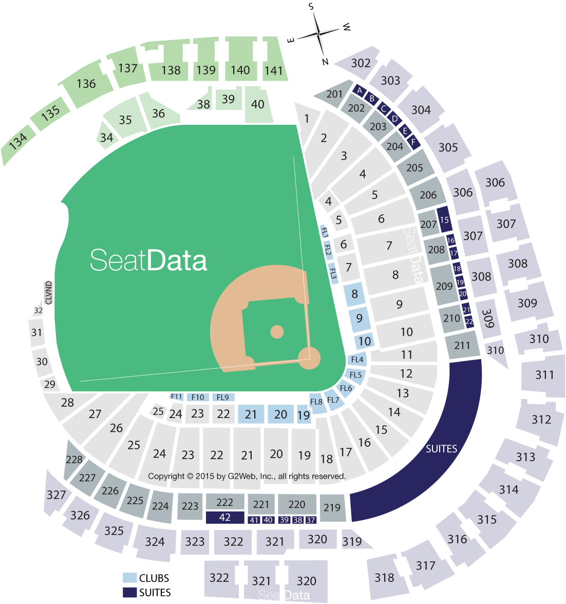 Miami marlins park seating chart