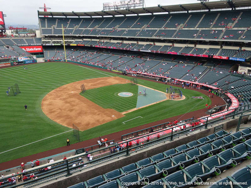 Pictures of angel stadium seating
