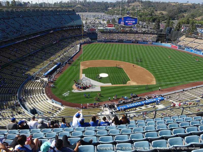 Dodger Stadium Top Deck view