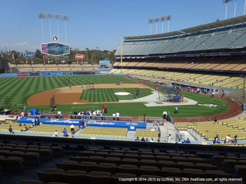 Dodger Stadium Section 129 view