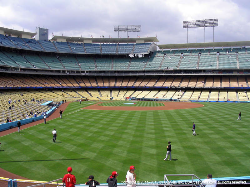 Dodger Stadium Section 302 view