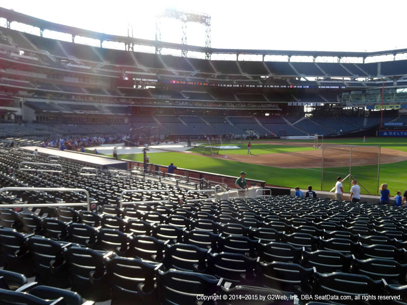 Citi Field Section 110 view