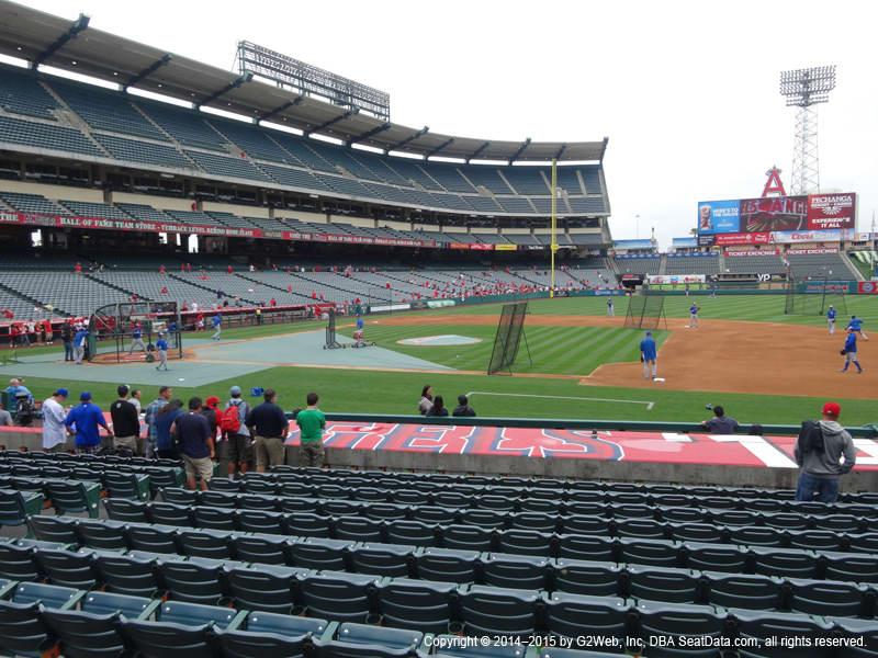 Los Angeles Angels Stadium Best Seats At Angel Stadium Of